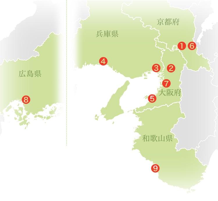 グループホテル地図