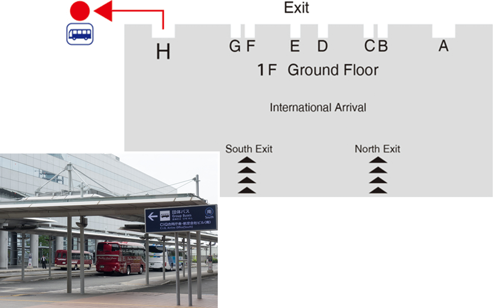 Hotel Shuttle Pick Up Point at Kansai Airport