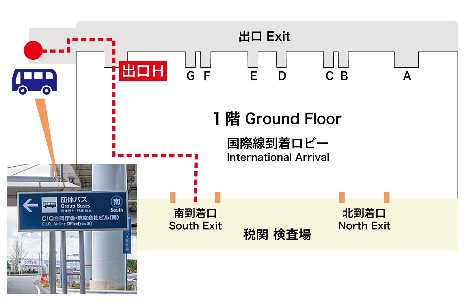 関西空港シャトルバス乗り場案内
