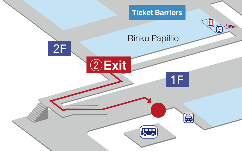 Hotel Shuttle Pick Up Point at Rinku Town Station